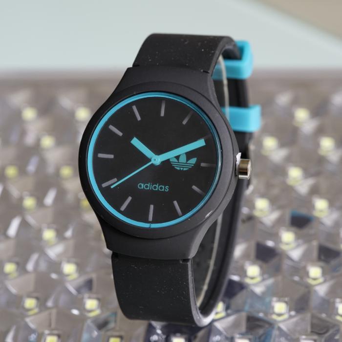 Jam Tangan Pria / Wanita Murah Adidas SK2845 Rubber Black Blue