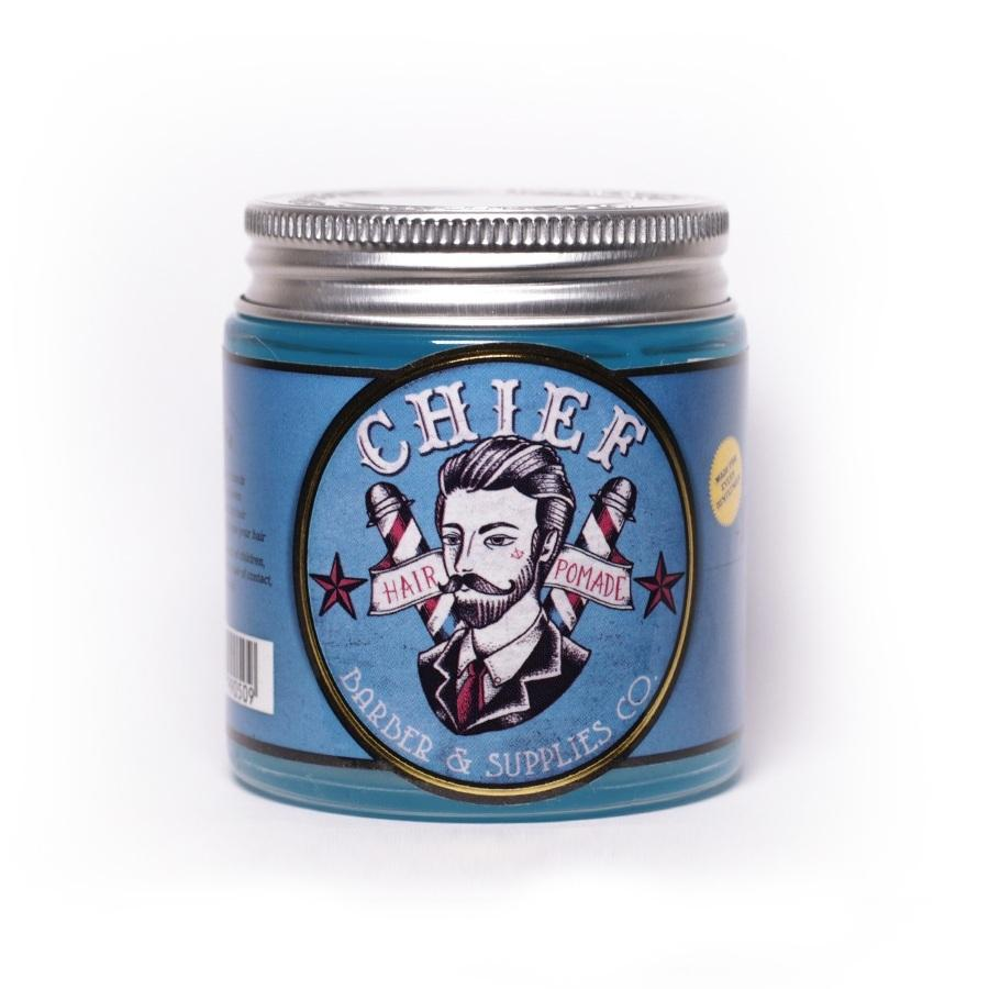 Pomade Chief Blue - Waterbased / Water Based - Free Sisir Saku - Hair Wax - Minyak Rambut