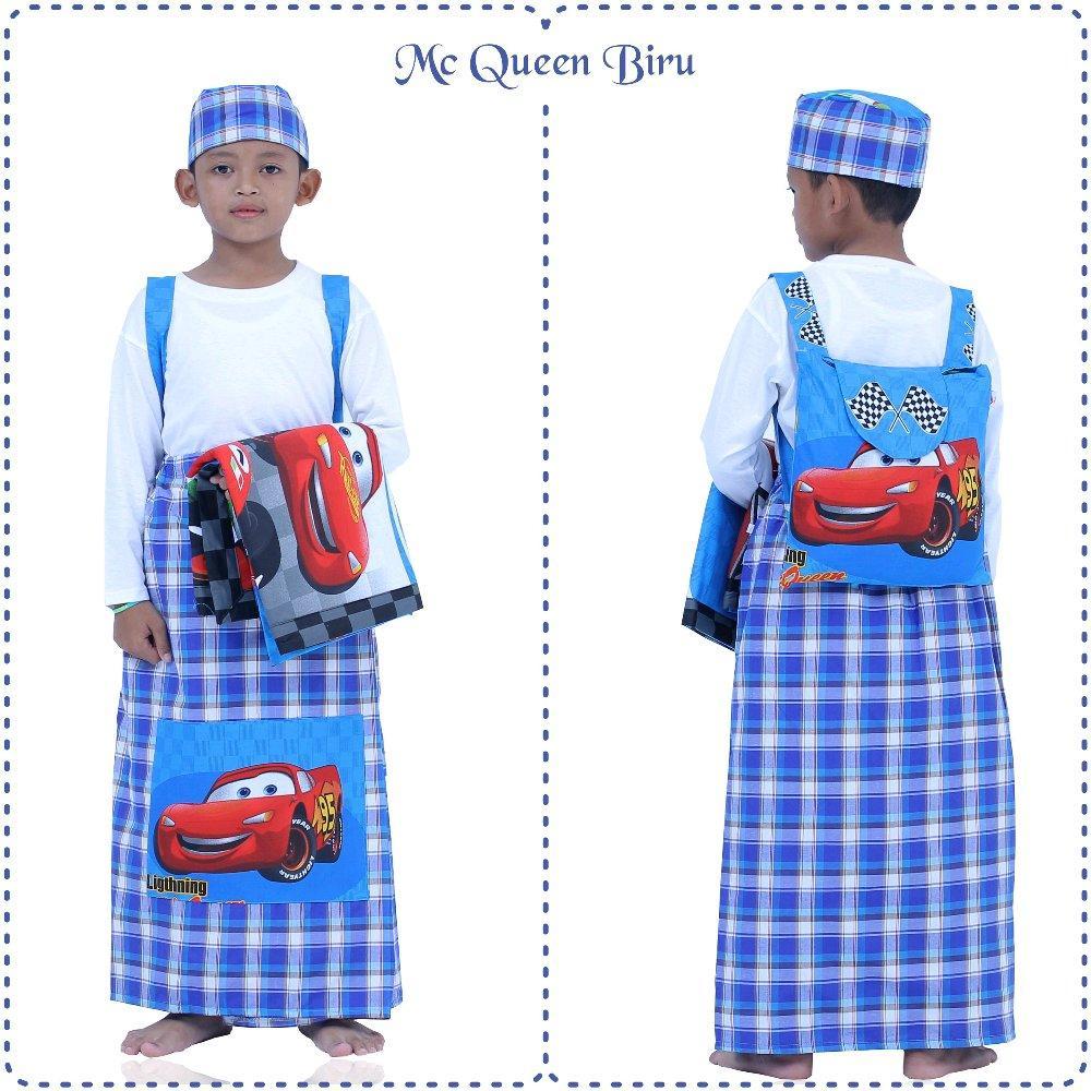 Sarung Instan Anak Karakter Mc Queen Biru Size XS di lapak Mukena Yumna mukenayumna