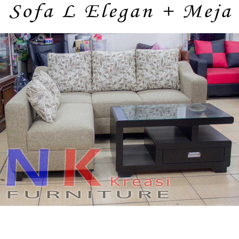 Sofa Kursi Ruang Tamu Minimalis + MEJA KAYU CANTIK