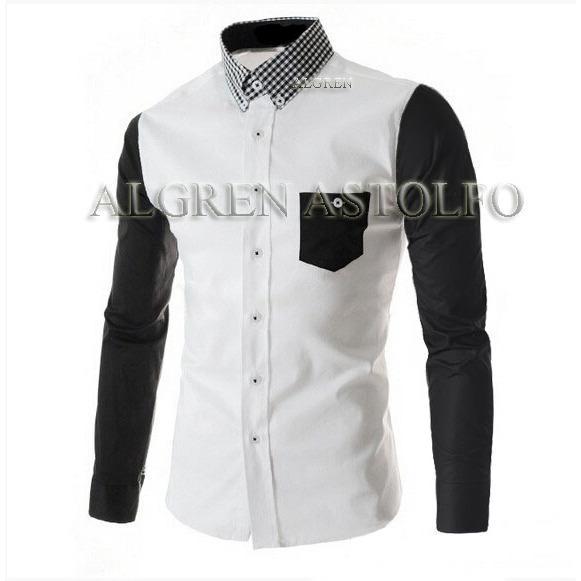 Algren Baju Hem Kemeja Pria Astolfo lengan panjang - Putih / Regular fit / Casual / Polos / Kerja / Kantor / Katun / Kem Tangan Panjang Cowo / Atasan Cowok / Pakaian Laki laki Dewasa