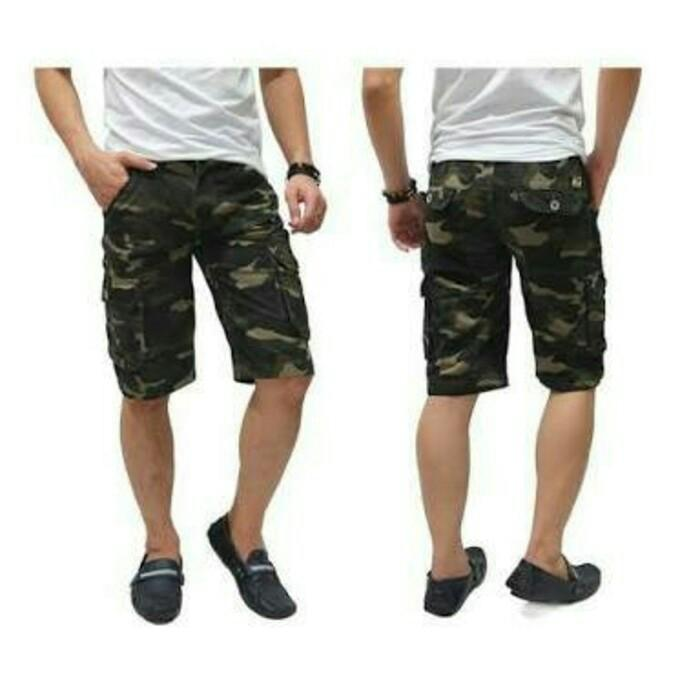Celana Pendek Cargo Army / Celana Pendek Distro / Kargo Doreng - Cwrkli
