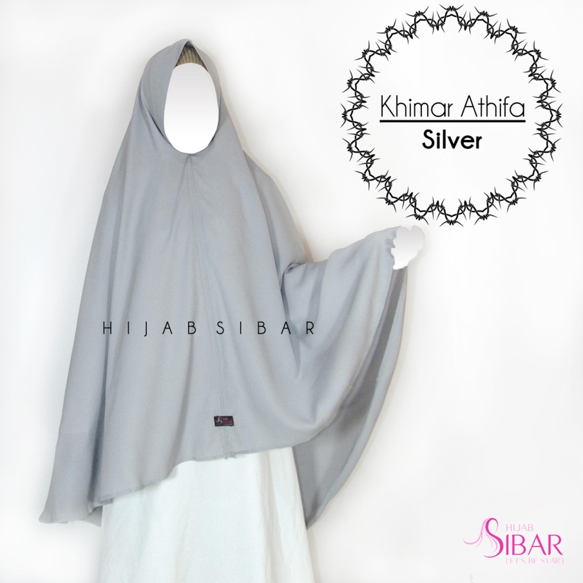 Khimar JUMBO Jilbab Syar'i Hijab Instant Athifa - Black/Abu/Pink/Hijau Mint