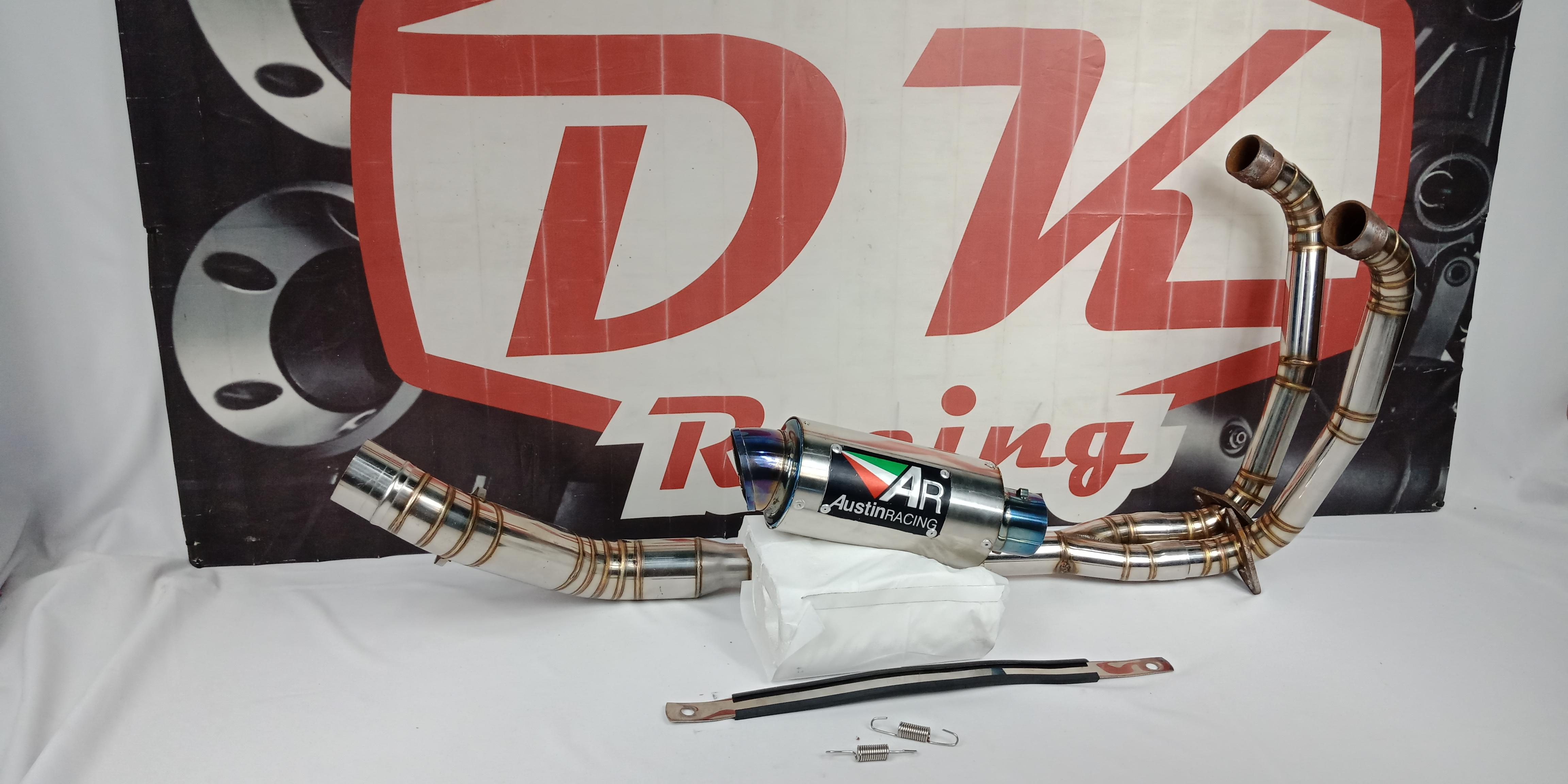 Knalpot Racing Kawasaki Z250 Austin Racing Halfblue By Dk Racing Bekasi.
