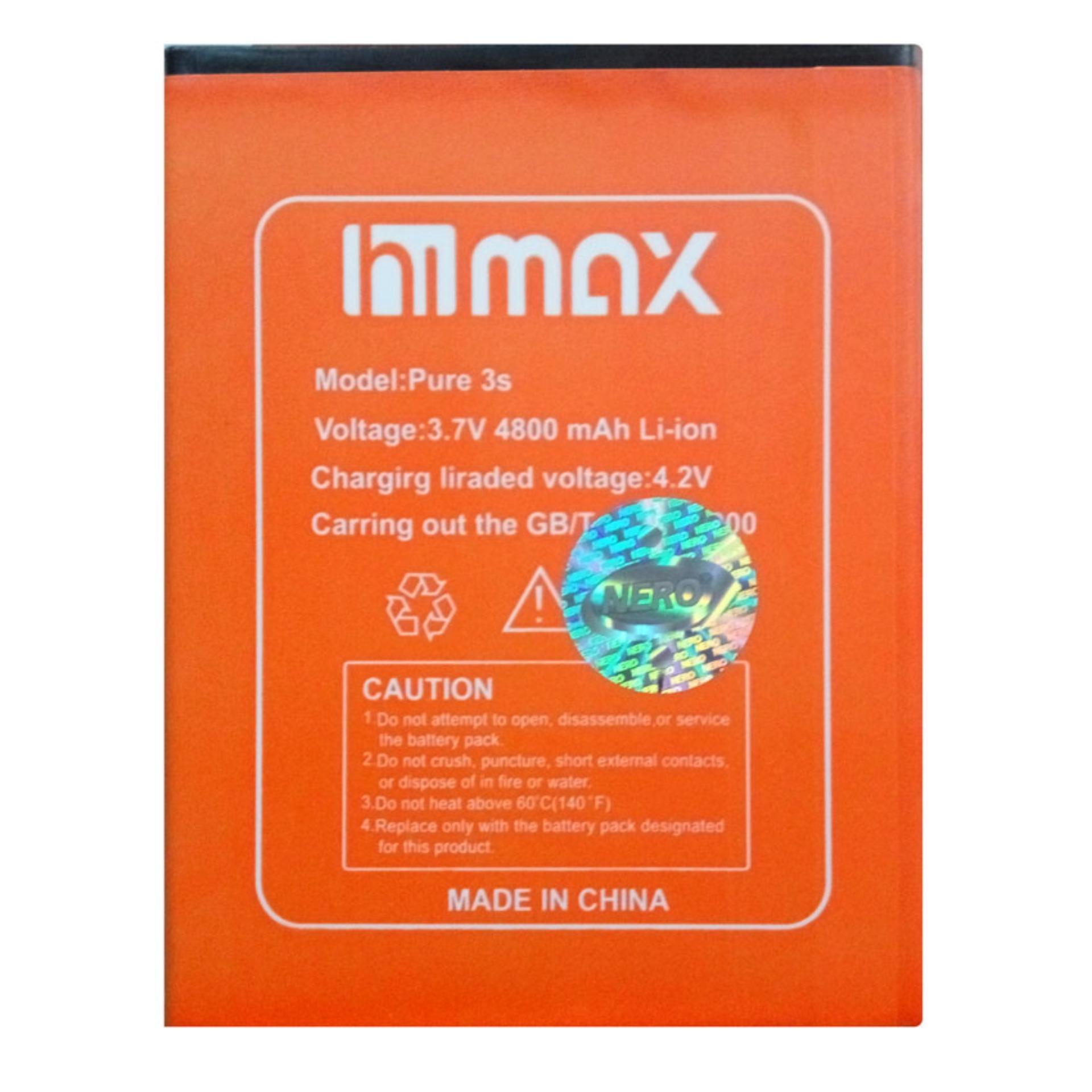 Himax Baterai Original Battery for Himax Pure 3S / KLB2 / ON340 - 4800 mAh