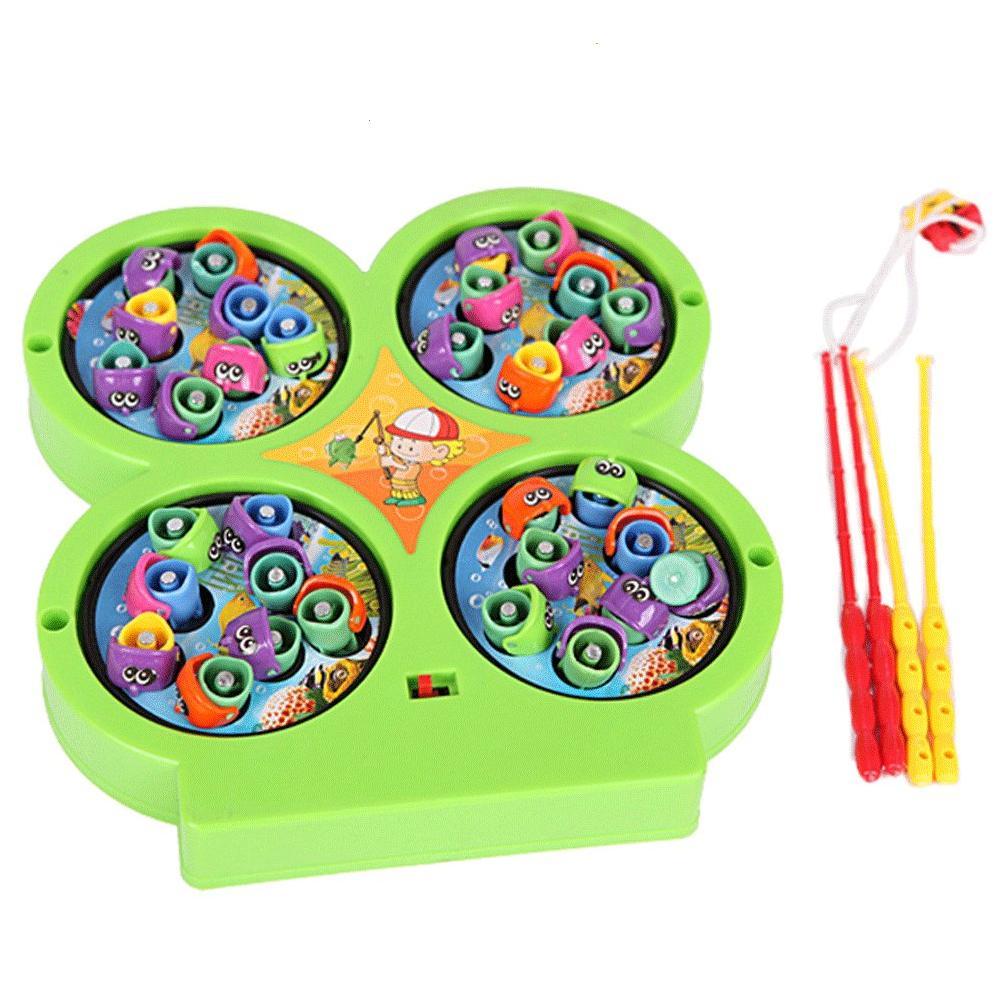 MOMO Toys Fishing Game Small 4 Kolam - Mainan Pancingan Ikan