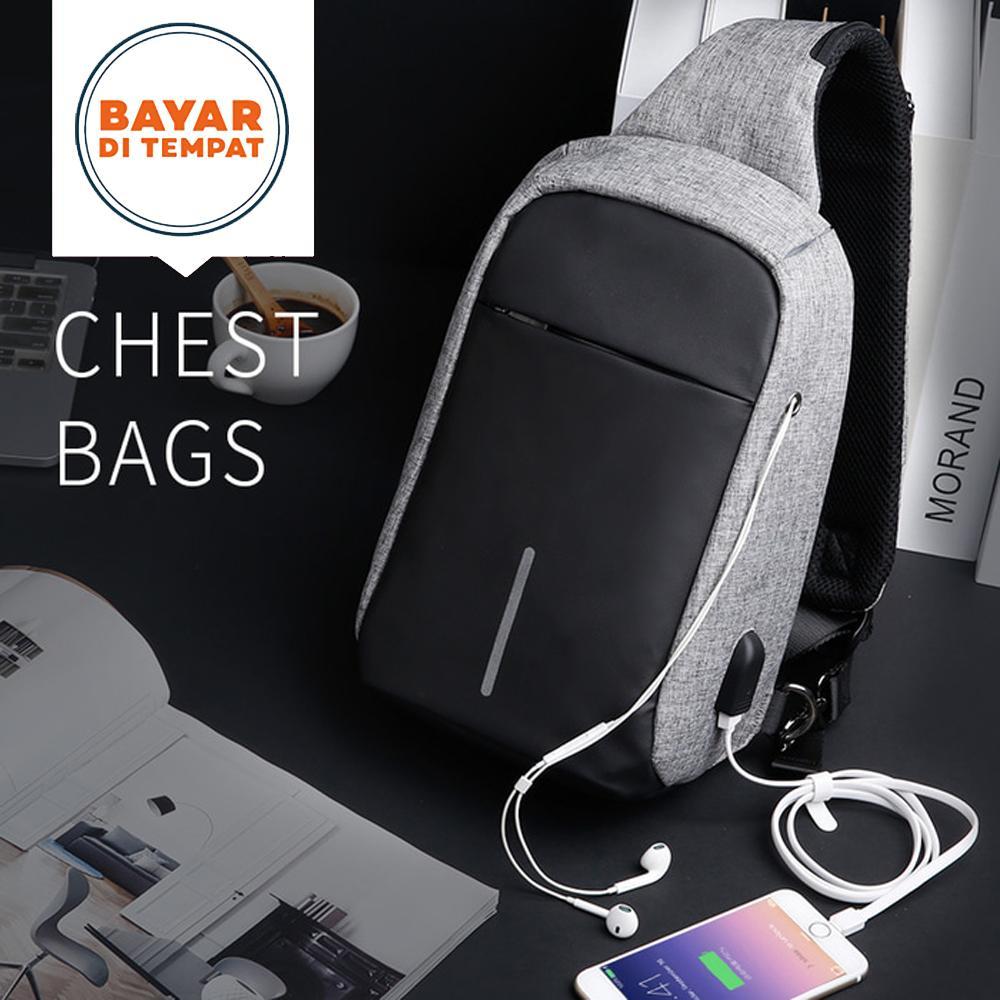 Rp 89.900. Slingbag Polo P0746 USB Anti Theft Crossbody Bag Tas Selempang Pria Tas Selempang ...