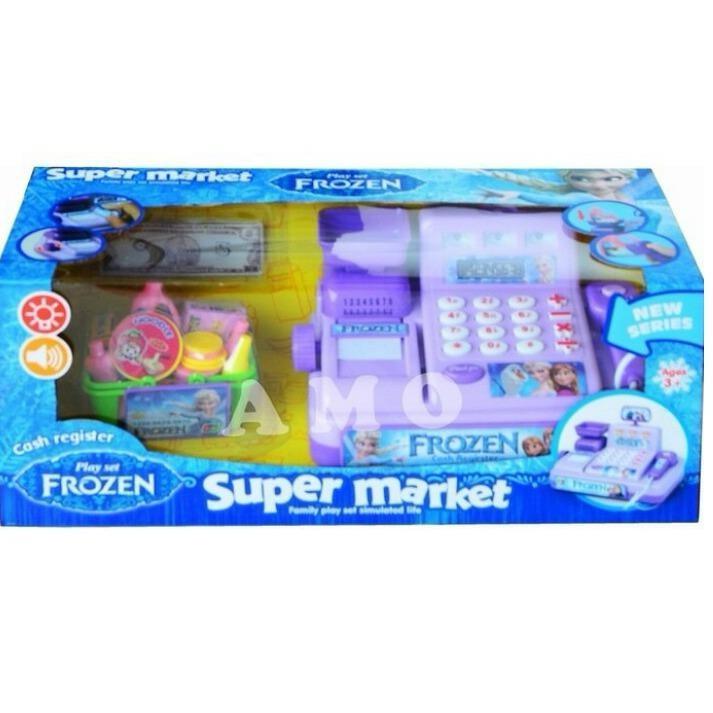 [0960450008] Frozen Cash Register Supermarket Mainan Kasir Anak - Purple