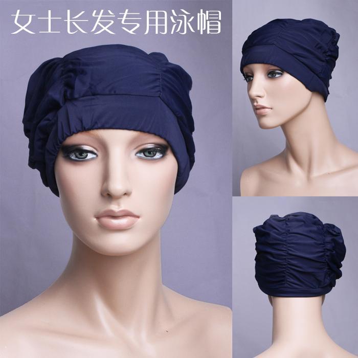 Lan Italia warna-warni Warna Polos Topi renang Baju renang kain bahan, wanita rambut panjang Topi renang transceiver praktis Schick
