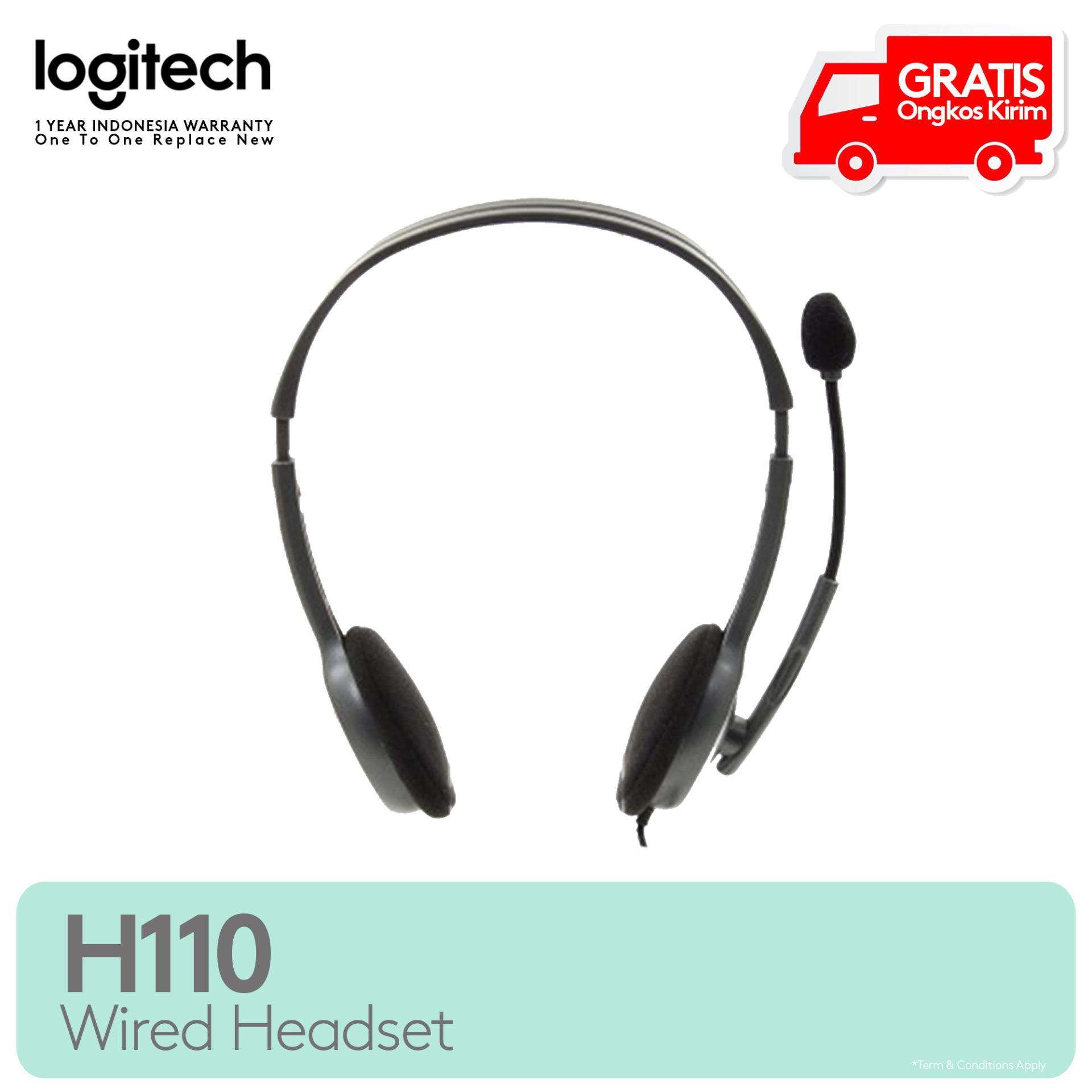 Logitech Stereo Headset H110 - Silver