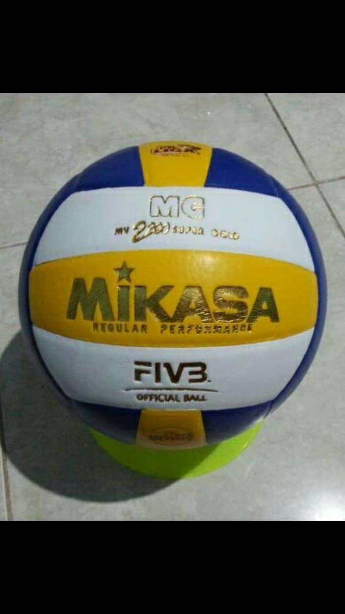 ORIGINAL!!! Bola Voli Mikasa 2200 KW ORI Super Gold - MK7J77