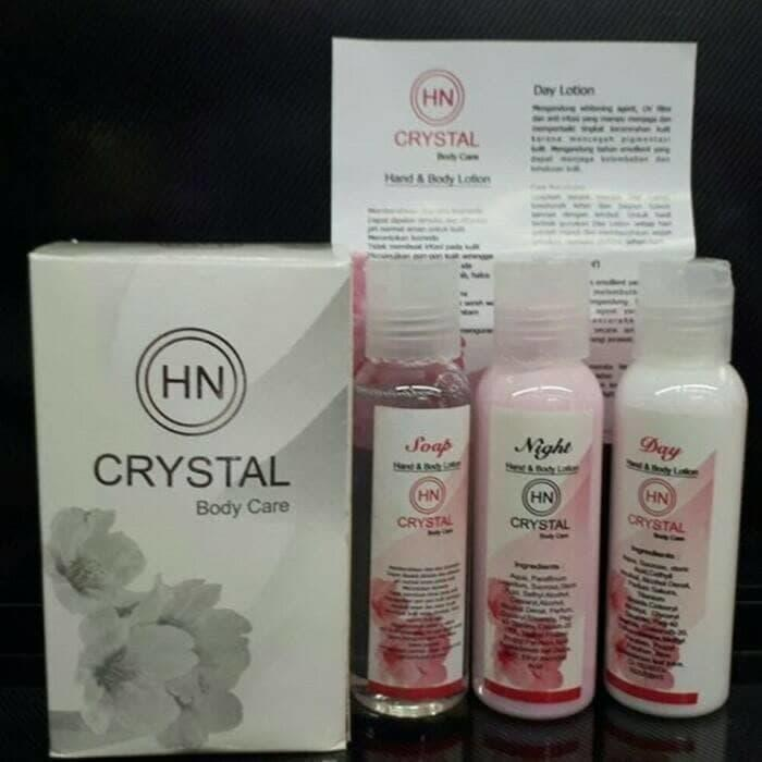 HN CRYSTAL BODY CARE / PEMUTIH BADAN HN CRYSTAL 3 IN 1 FREE MASK HANASUI GOLD