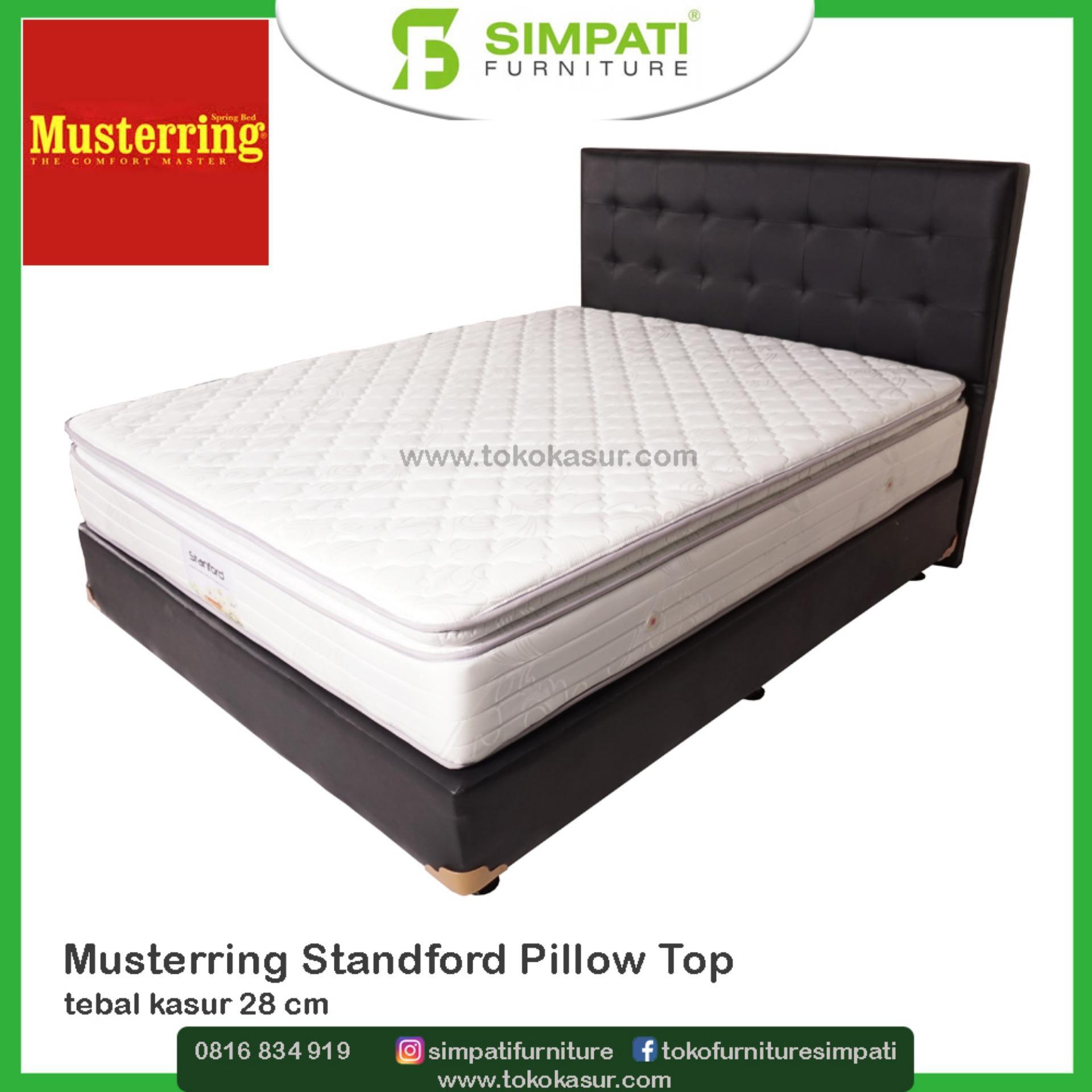 Musterring Spring Bed Standford Pillow Top - Hanya Kasur Tanpa divan dan Sandaran - 100X200