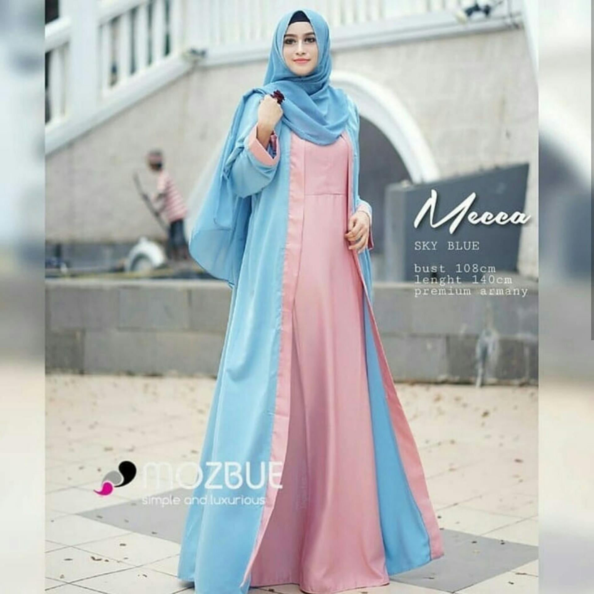 AmorShop Gamis Maxi Mecca /Pakaian Wanita /Long Dress /Pakaian Muslim Wanita