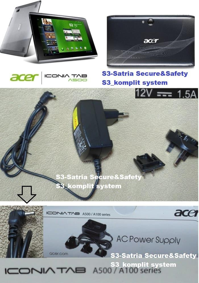 Charger ADAPTOR ACER ICONIA TABLET A100 A101 A200 A500 A501 12v 1,5a