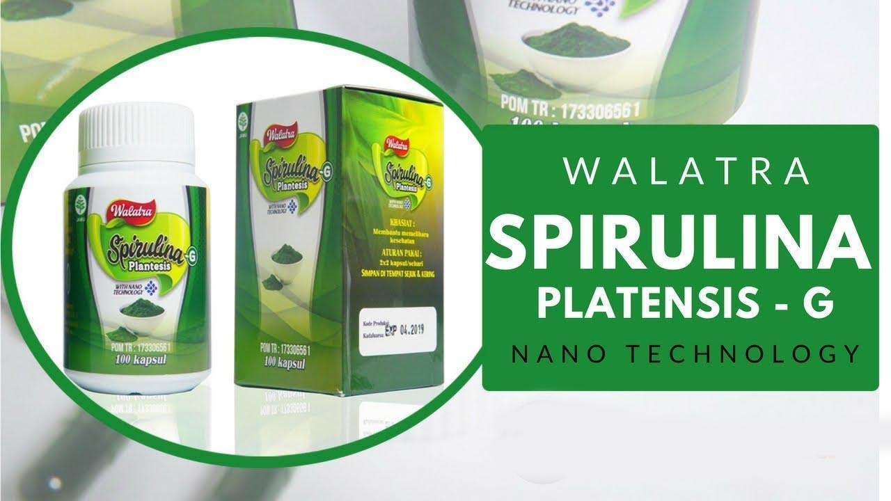 Walatra Spirulina G Plantesis Kapsul With Nano Technology Asli 100%