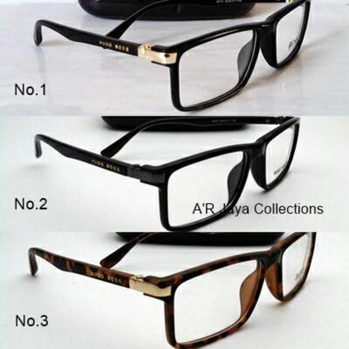 PROMO..Frame Kacamata Hugo Boss + lensa minus NEW