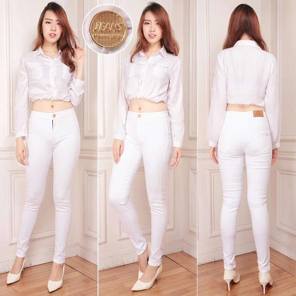 Buy Sell Cheapest High Waist Wanita Best Quality Product Deals Celana Jeans Hw Black Premium Size 27 30 Zfashion Terbaru White Pensil Warna Putih