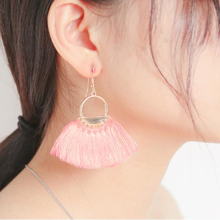 Anting Korea New Retro Bohemian Earrings Cross Border Tassel AP5006