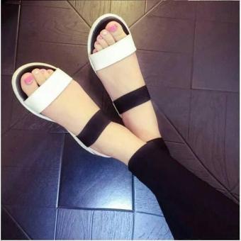 Harga preferensial (PCH SHOP ) Sepatu wanita flat sandal putih 44 terbaik murah - Hanya