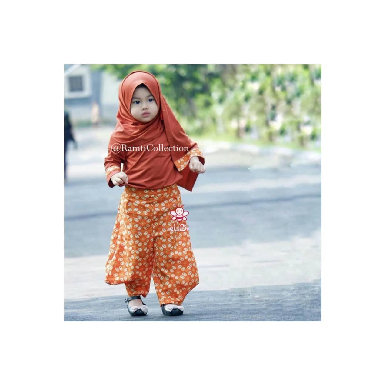jual baju anak muslim I baju anak unik I gamis anak muslim I Hana set