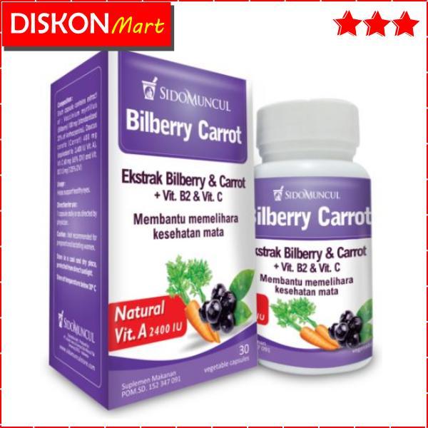 Kapsul Bilberry Carrot Sidomuncul, Obat Vitamin Mata Lelah, Minus, Gangguan Mata