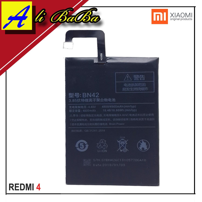 Baterai Handphone Xiaomi Redmi 4 Redmi 4 Prime BN42 Battery HP Xiaomi Redmi 4 Batu Batre