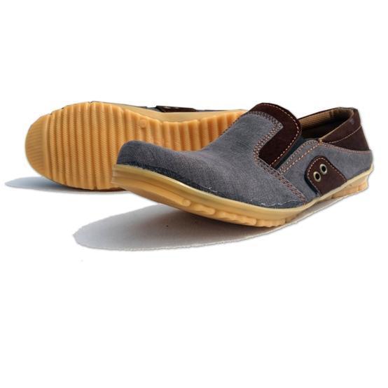Akas 55 Sepatu Pria Denim / Sepatu Pria Kasual Abu-abu/Denim
