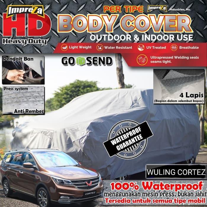 Body Cover / Sarung Outdoor Wuling Cortez - ImprezaHD 100% Waterproof - 4 Lapis - Bisa Dicuci - Bisa Dilipat