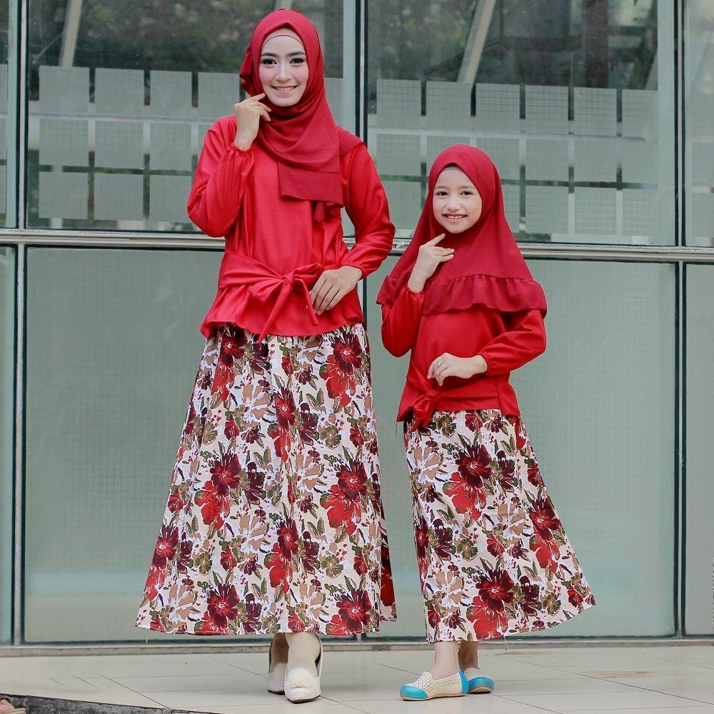 DIONISIA Kinara Dress Couple Wanita Family / Dress Muslim / Gamis Wanita / Baju Muslim / Hijab Muslim / Fashion Muslim / Syar'i Muslim / Maxi Dress Lengan Panjang / Gamis Modern