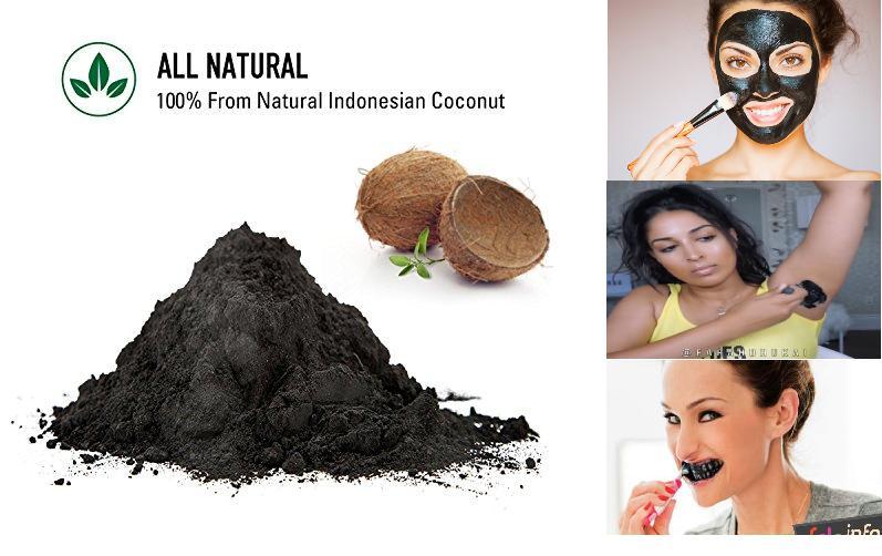 Actived Charcoal Powder Toothpaste Whitening Teeth Odol Arang Bubuk Aktif Pemutih Gigi - 200gr