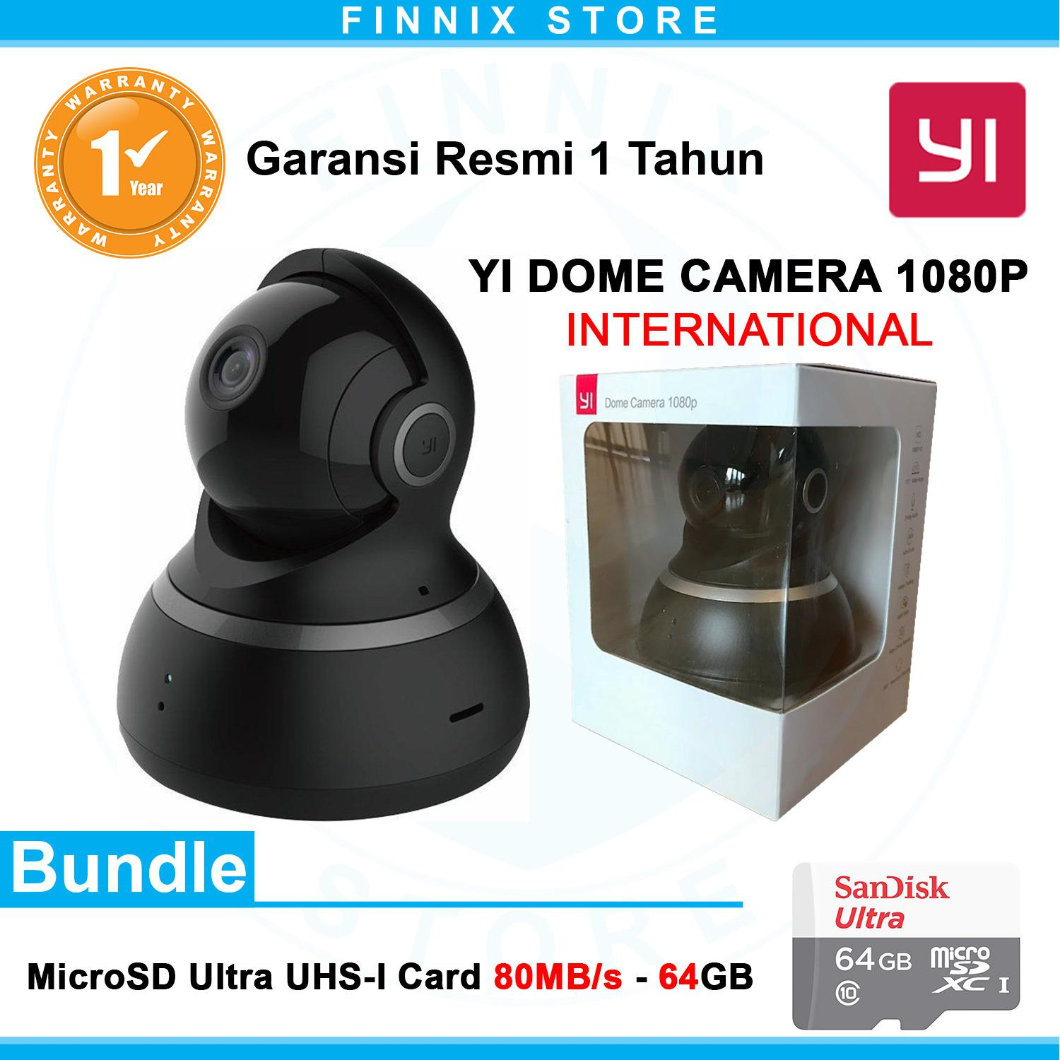 Xiaomi Yi Dome 1080P Smart IP Camera International Version Bundle SanDisk 64GB
