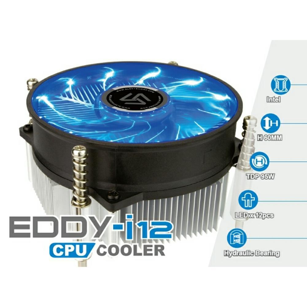 Fan Processor Kipas Prosesor Gaming LED Intel Eddy i12 - Biru
