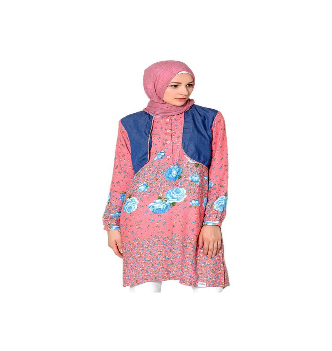 Cardingan MURAH Baju Muslim Clover Clothing Tunic Shelby - Salem -