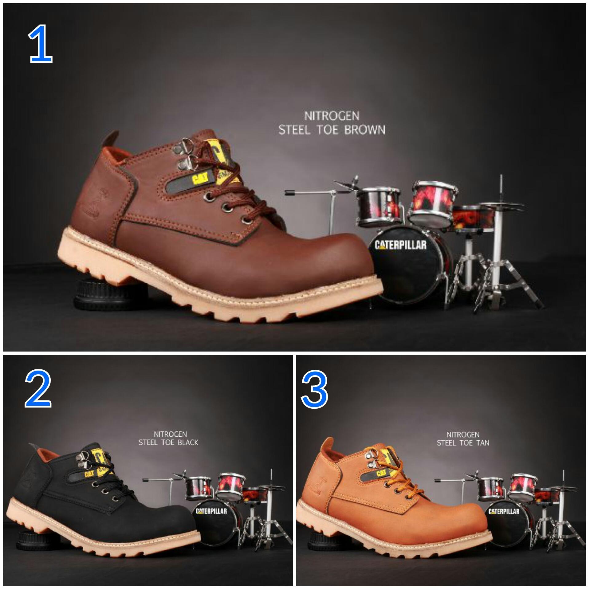 Sepatu Caterpillar Nitrogen Steel Toe Sepatu Pria Original