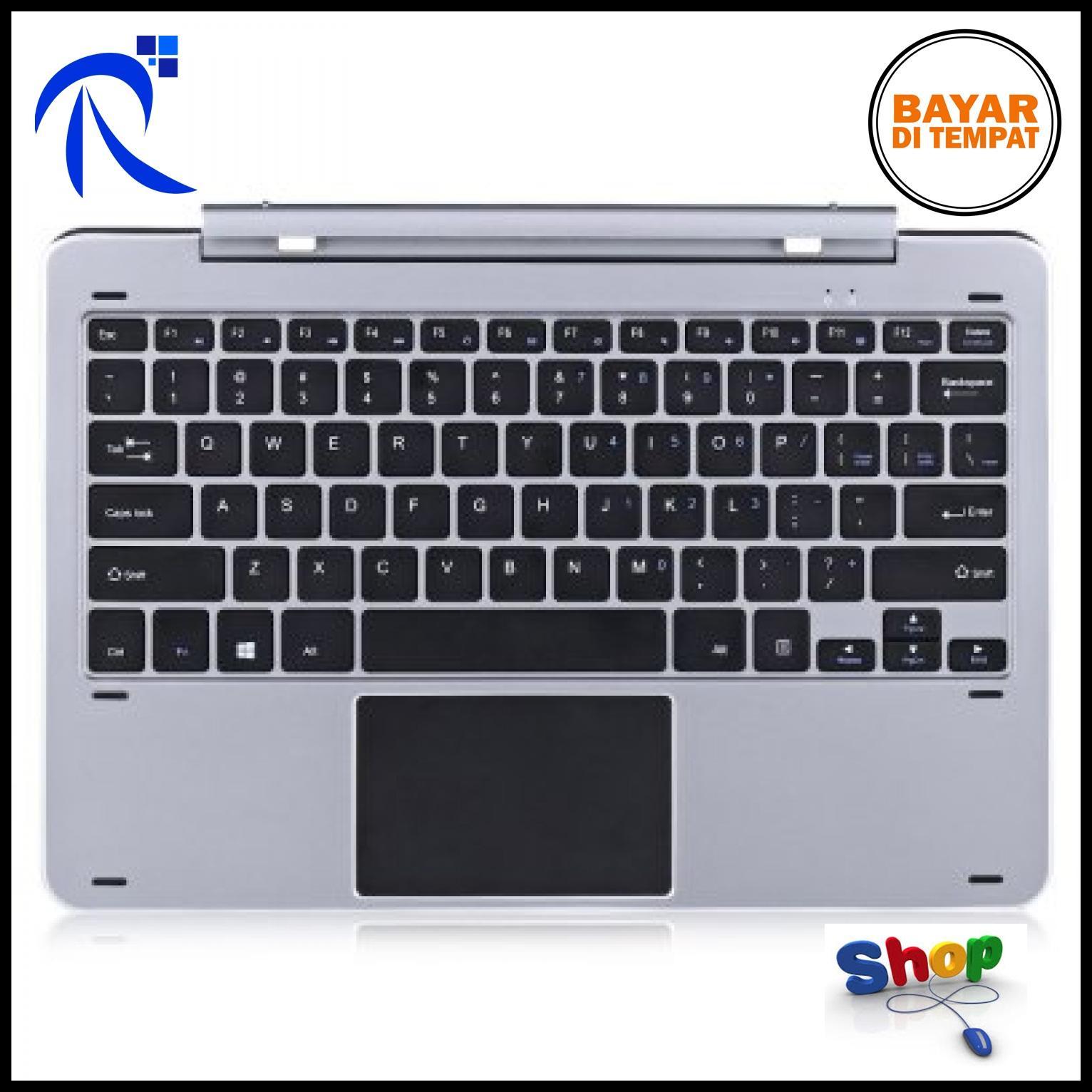 Rimas Eksternal Keyboard for Chuwi Hi12 with Pogo Pin - Black / Hitam Keyboard Papan Ketik Penggant
