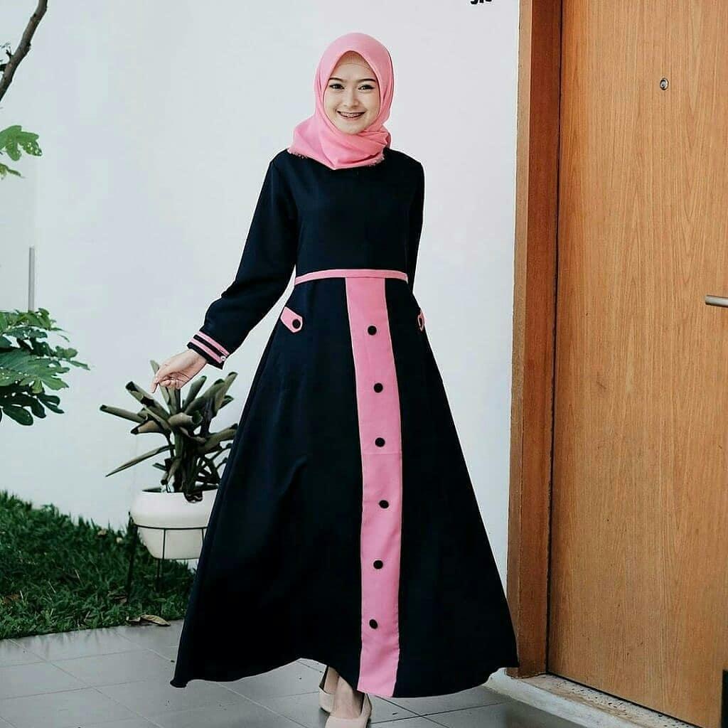 Rp 75.000. TOF GAMIS TERBARU Gamis Wanita Gamis Syari Dress Wanita Muslim  Murah ... 3f6f36c51e