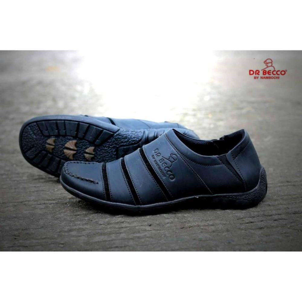 Sepatu CASUAL Formal Pria DR. BECCO Kerja Formal Kulit Asli Safety Original  Murah Hitam Tan f754f9e7bd