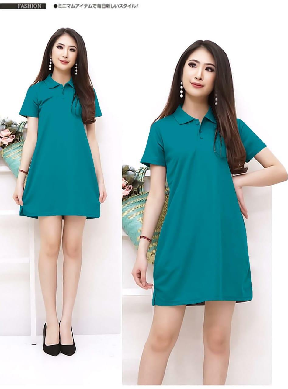 Xavier dress lacoste / Dress Wanita simple / Spandek Maxi / Pantai Terusan / Gaun Panjang