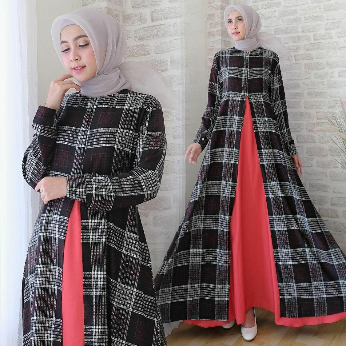 (Foto Asli) PTA Hijab Gamis Kanziola Premium Square