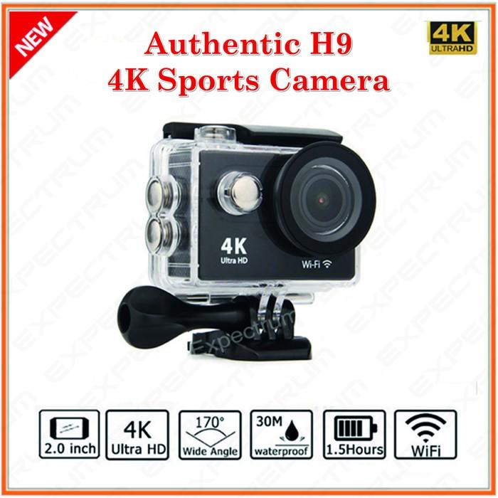 H9 Action Camera Ultra HD 4K WiFi 2.0 LCD. NEW CASE WATERPROOF SHELL Terlaris di Lazada