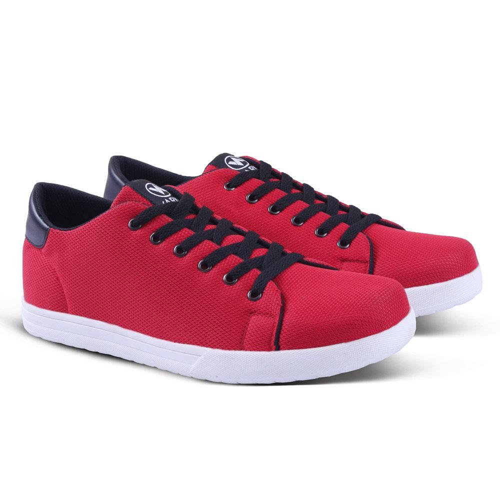 Sepatu Sneakers Pria 050 Sepatu Kets dan Casual Cowok utk Sport Sekolah Kerja Murah Berkualitas / Sneaker Cowo gaya simple elegan - Merah
