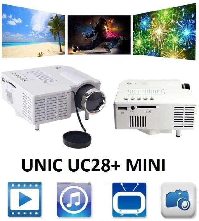 Proyektor LED Mini Portable Home Theater Infokus UNIC UC28 Projector ponsel android murah dan canggih projektor UNIC Mini Led Projector Uc28+ 400 Lumens | Proyektor Portable Original Murah Berkualitas Lebih Hemat dan Tahan Lama HDMI AV USB Remote SD Card