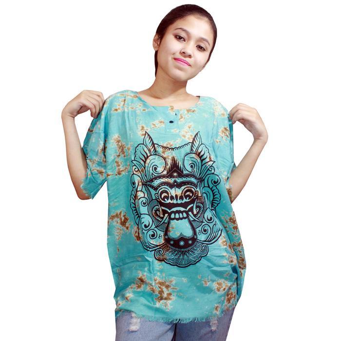 TERLARIS Kaos Bali Batik, Kaos Santai, Baju Tidur, Atasan Wanita(KPT001-Wanita) PROMO