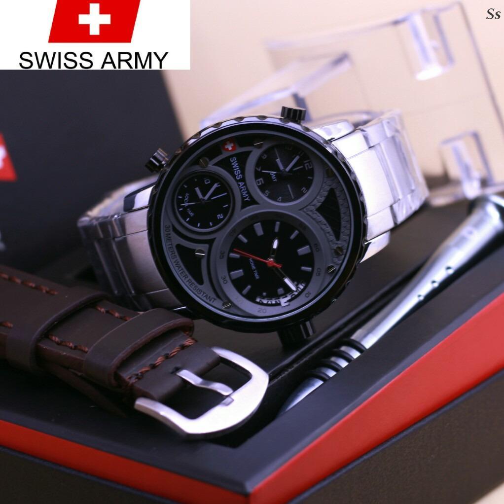 Swiss Army S Jam Tangan Pria  Paket TALI&OBENG  SA 7732 ART