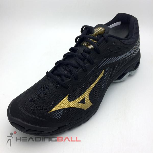 Sepatu Volley Mizuno Original Wave Lightning Z4 Black Gold V1GA180050 b836dac457