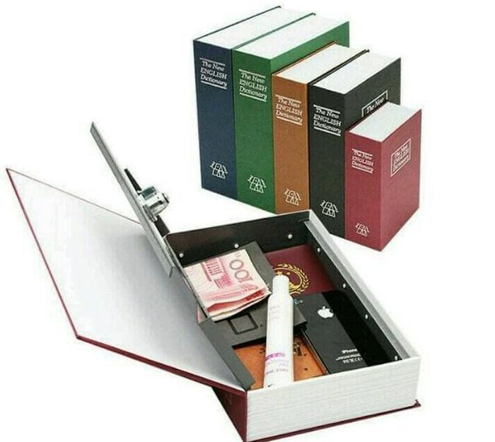 Safe Deposit Box Bentuk Buku Brangkas Tempat Penyimpanan Rahasia Bar  - tBeRlia