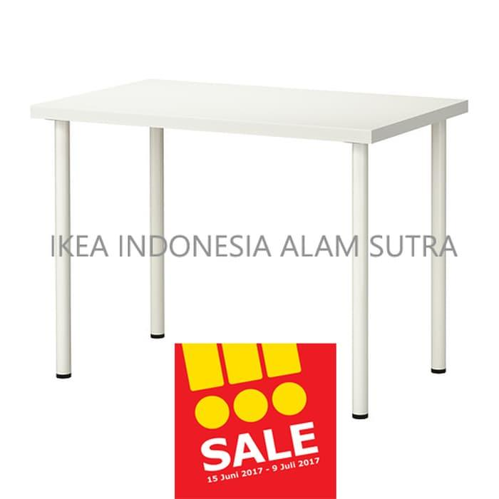 Promo IKEA LINNMON/ADILS (MEJA PUTIH) 100X60CM Original