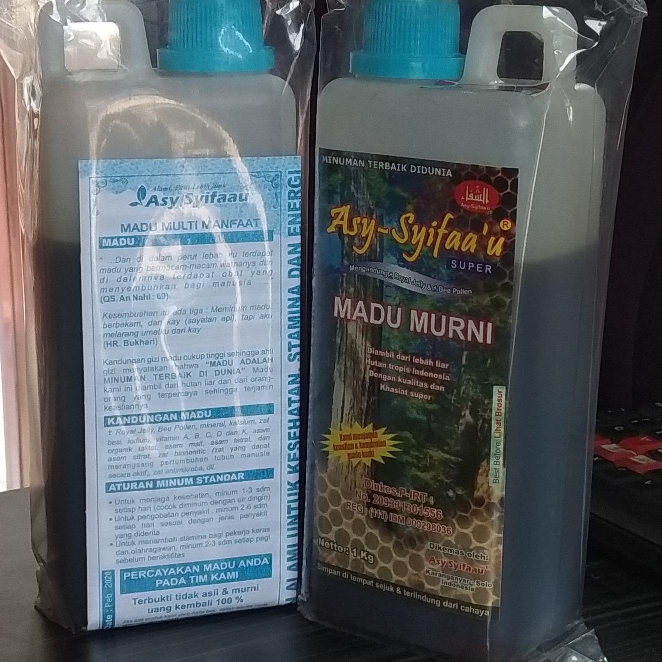 Madu Murni Asy-Syifaa'u Palembang 1kg