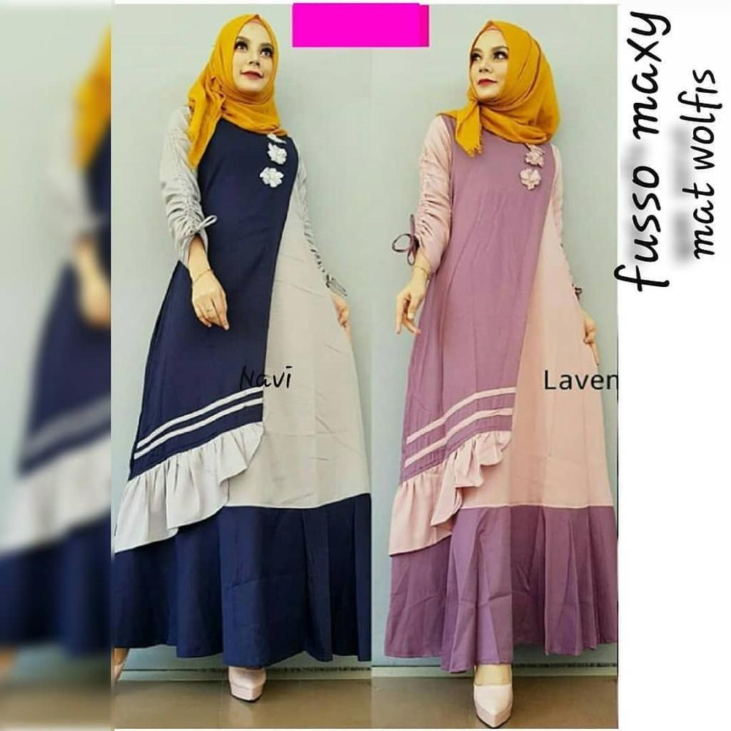 JAKARTA GROSIR -  fusso maxy | IS Fashion Dress / Atasan / Tunik / size M, L dan XL